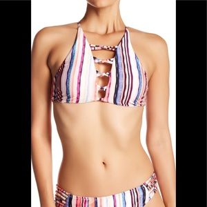 RAISINS Newport High Neck Strappy Halter Bikini